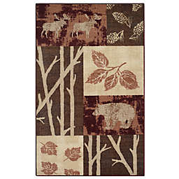 Rustic Nature 3-Foot 3-Inch x 5-Foot 4-Inch Washable Area Rug in Garnet