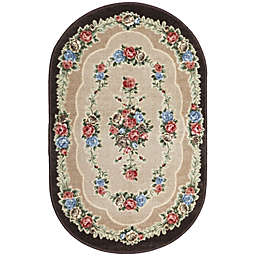 Brumlow Mills Heartwood 2-Foot 6-Inch x 3-Foot 10-Inch Oval Washable Accent Rug in Chocolate