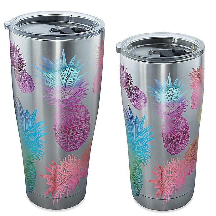 Alternate image 1 for Tervis® Watercolor Pineapple Stainless Steel Tumbler with Lid