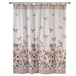 Avanti Butterfly Garden Shower Curtain in White