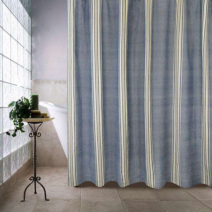 Park B Smith Metro Farmhouse Chambray Shower Curtain In Denim