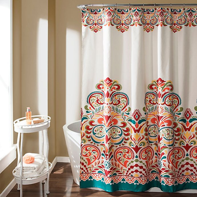 Alternate image 1 for Clara Shower Curtain in Turquoise