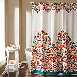 Clara Shower Curtain In Turquoise
