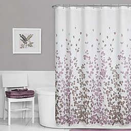 Maytex Leaf Print Shower Curtain in Purple