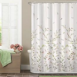 Zenna Home Dragonfly Garden Fabric Shower Curtain