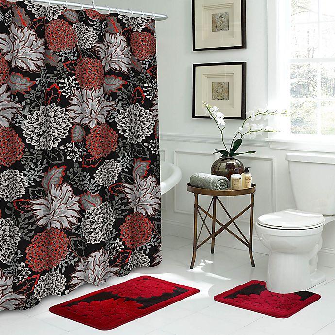 Sonrie 15 Piece Bathroom Set In Black Red Bed Bath Beyond