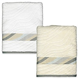 Shell Rummel Sand Stone Bath Towel in White