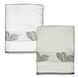 Shell Rummel Butterfly Bath Towel in White