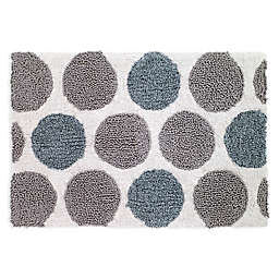 Avanti Dotted Circle Bath Rug in White