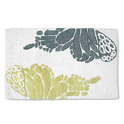 Shell Rummel Butterfly 20-Inch x 32-Inch Bath Rug