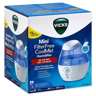 Vicks 174 Mini Cool Mist Humidifier Bed Bath Amp Beyond