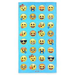 Emoji Beach Towel in Blue