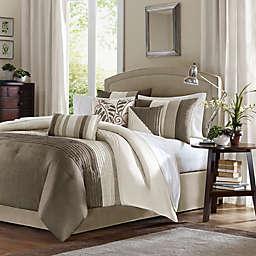 Madison Park Amherst 7-Piece Full Comforter Set in Khaki