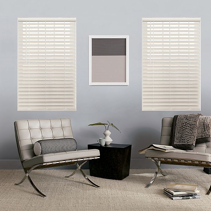 Alternate image 1 for GLOWE   Cordless 23-Inch x 64-Inch Faux Wood Blinds in Lime White