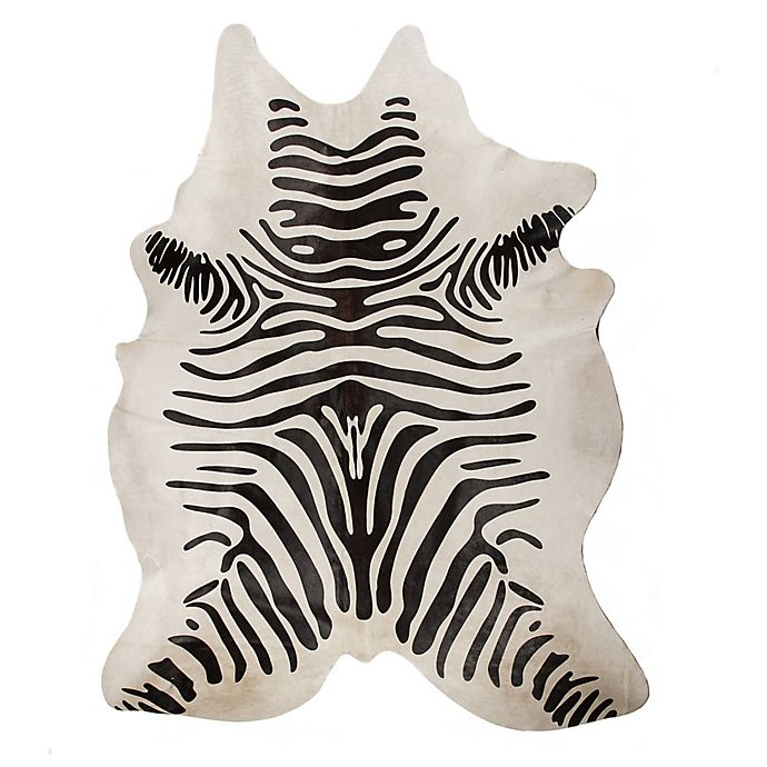 Alternate image 1 for Natural Rugs Togo Cowhide 6-Foot x 7-Foot Area Rug in Zebra Black/Off-White