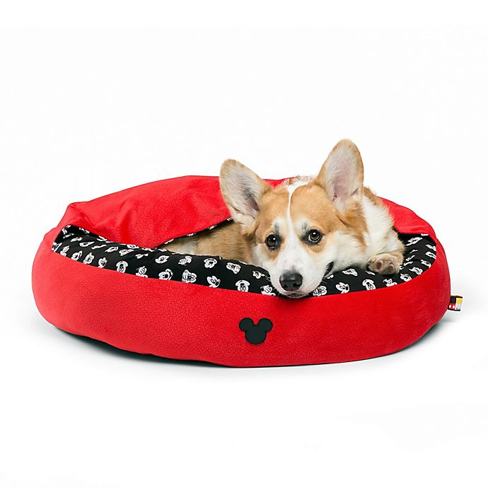 Alternate image 1 for Disney® Mickey Mouse Medium Cozy Cuddler Pet Bed in Red
