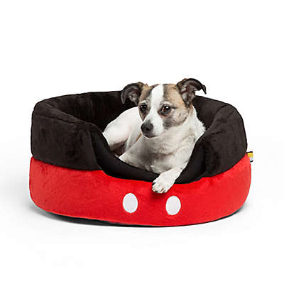 Disney® Mickey Mouse Pants Standard 2-in-1 Honeycomb Hut Pet Bed in Black/Red