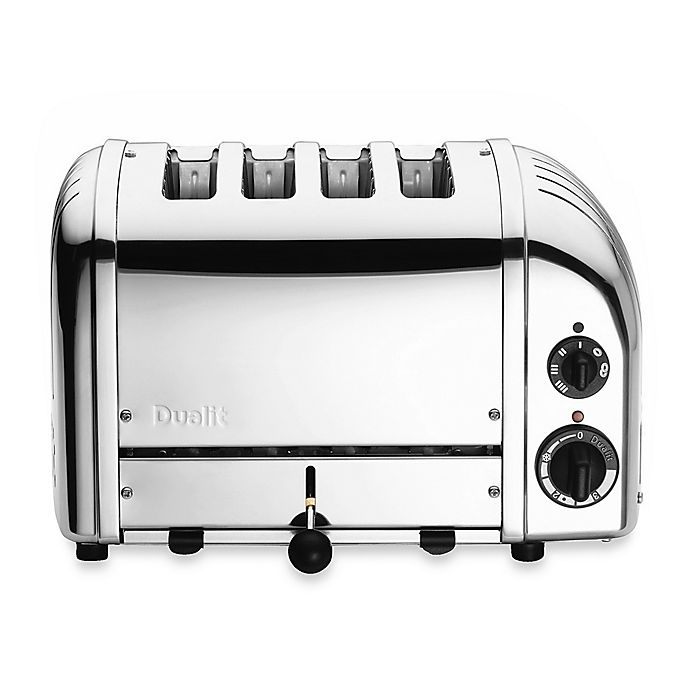 Alternate image 1 for Dualit® 4-Slice Chrome Toaster and Sandwich Cage Collection