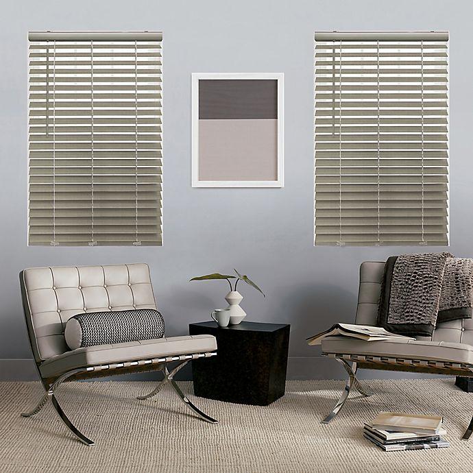 Alternate image 1 for GLOWE   Custom Cordless Faux Wood Blinds