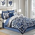 Indigo 8-Piece Full Comforter Set in Blue