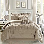 Pintucks 8-Piece Queen Comforter Set in Taupe