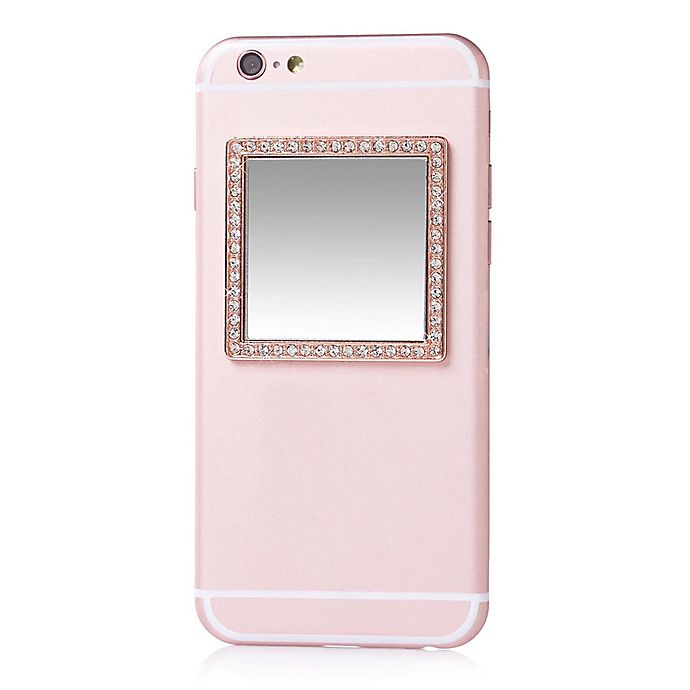 Alternate image 1 for iDecoz Stick-On Square Phone Mirror