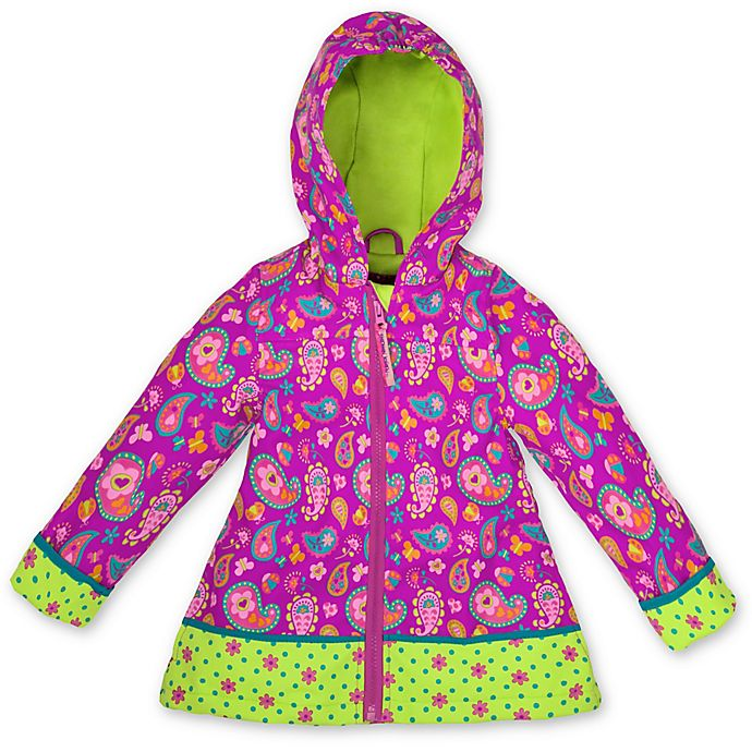 Alternate image 1 for Stephen Joseph® Size 3T Paisley Raincoat in Purple