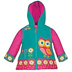 Stephen Joseph® Size 2T Owl Raincoat in Teal