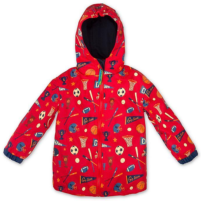 Alternate image 1 for Stephen Joseph® Size 2T Sports Raincoat in Red