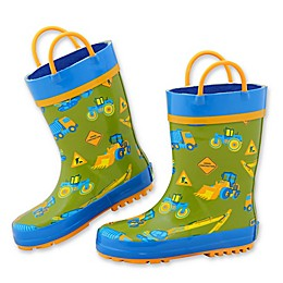 Stephen Joseph® Construction Rain Boot in Green