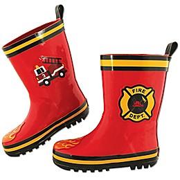 Stephen Joseph® Fire Truck Rain Boot in Red