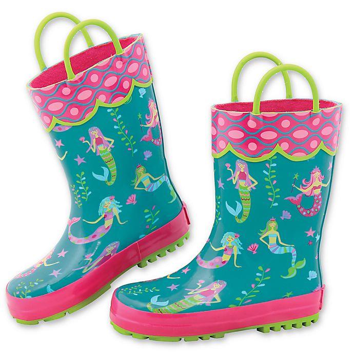 Alternate image 1 for Stephen Joseph® Mermaid Rain Boot in Teal