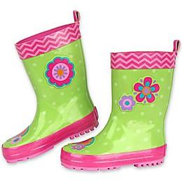 Stephen Joseph® Flower Rain Boot in Green