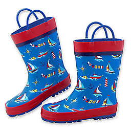 Stephen Joseph® Nautical Rain Boot in Blue