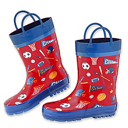 Stephen Joseph® Sports Rain Boot in Red