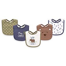 Hudson Baby® 5-Pack Bear Drooler Bib Set in Green