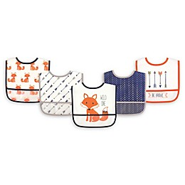 Hudson Baby® 5-Pack PEVA Fox Drooler Bib Set in Orange