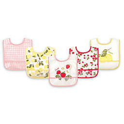 Hudson Baby® 5-Pack PEVA Strawberries Drooler Bib Set in Yellow