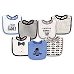 Hudson Baby® 7-Pack Gentleman Drooler Bibs in Blue