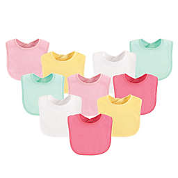 Luvable Friends® 10-Pack Drooler Bibs in Yellow