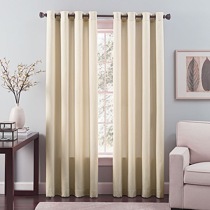 Alternate image 1 for Nuance Grommet Top Lined Window Curtain Panel