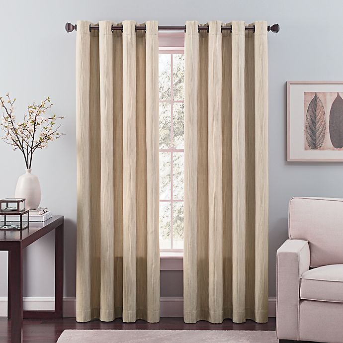 Alternate image 1 for Nuance 108-Inch Grommet Top Lined Window Curtain Panel in Khaki