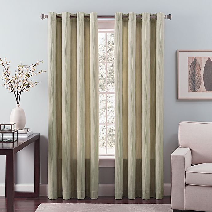 Alternate image 1 for Nuance 63-Inch Grommet Top Lined Window Curtain Panel in Green Tea