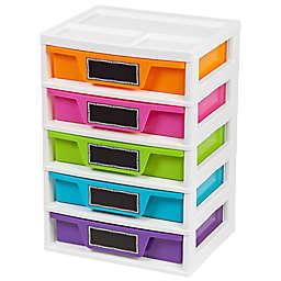 IRIS® 5-Drawer Storage and Organizer Chests (Set of 2)