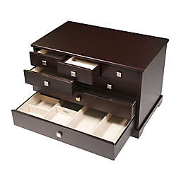 Mele & Co. Grafton Jewelry Box in Mocha