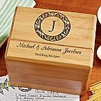 Wedding Recipes  Wood Recipe Box
