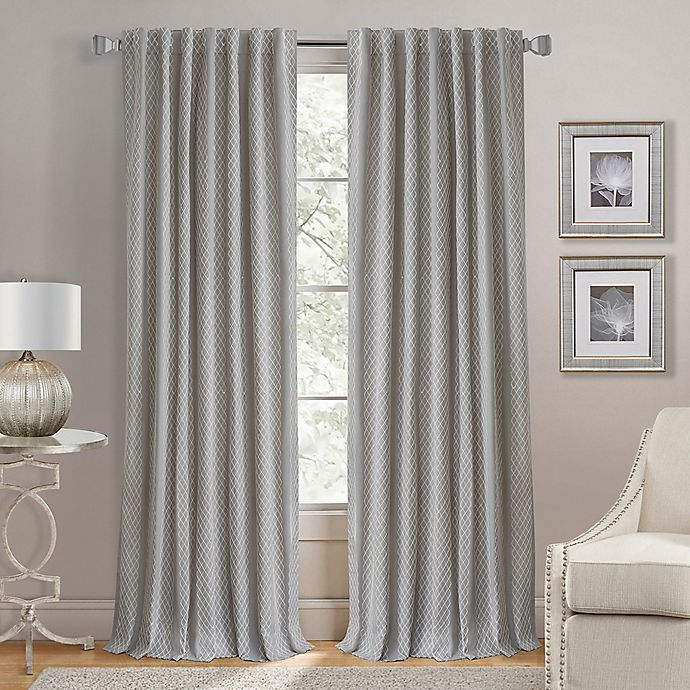 Alternate image 1 for Lorenzo 95-Inch Back Tab Window Curtain Panel in Grey
