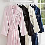 Classic Comfort Embroidered Monogram Luxury Fleece Robe