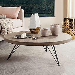 Safavieh Mansel Round Coffee Table in Light Grey