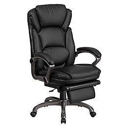 Flash Furniture Reclining High Back Upholstered Executive Office Chair in Black